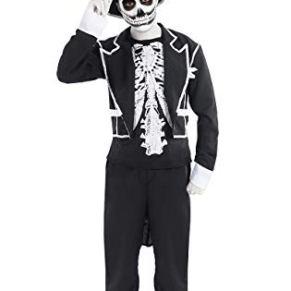 ORION COSTUMES Herren Baron Samedi Skelett Anzug und Zylinder Halloween Kostüme