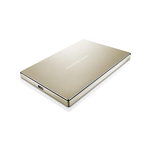 LaCie STFD2000403 disco rigido esterno portatile, Porsche Design Mobile Drive da 2 TB, oro