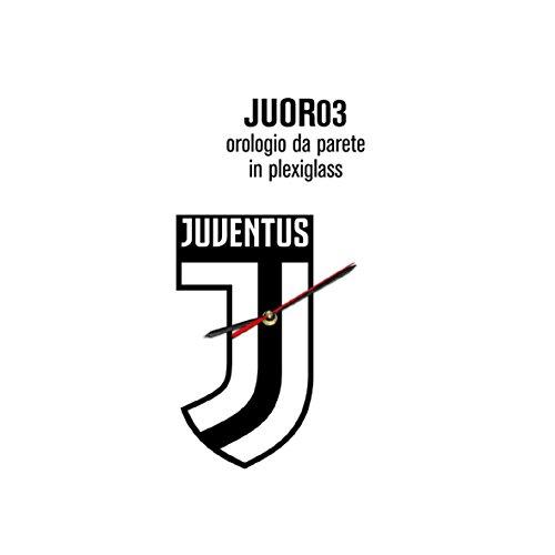 Giemme articoli promozionali - Orologio Parete Juventus Quadrato Prodotto Ufficiale Idea Regalo Calcio Serie A