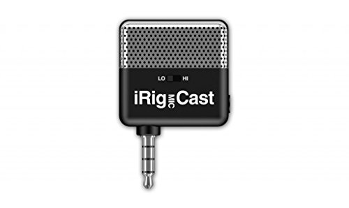 IK Multimedia iRig microfono da Podcast accessorio per iPhone/iPod Touch/iPad/Mac - Nero