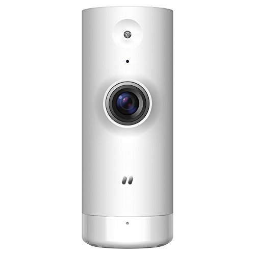 D-Link DCS-8000LH Mini Telecamera HD, Wi-Fi, Visualizzazione Grandangolare 120°, Registrazione Cloud Gratuita, Funziona con Alexa
