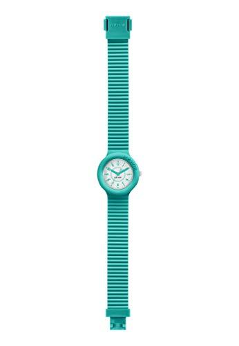 Orologio HIP HOP donna NUMBERS COLLECTION quadrante bianco e cinturino in silicone verde acqua,...