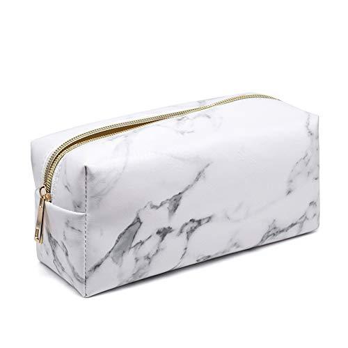MoGist - Trousse per cosmetici, in poliuretano, impermeabile, misura piccola, motivo marmo, colore:...
