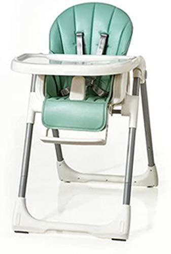 Seggiolone Portatile Lettino da campeggio Pieghevole portatile for bambini Tavolo da pranzo e sedie Home Sedile multifunzione con doppio vassoio regolabile