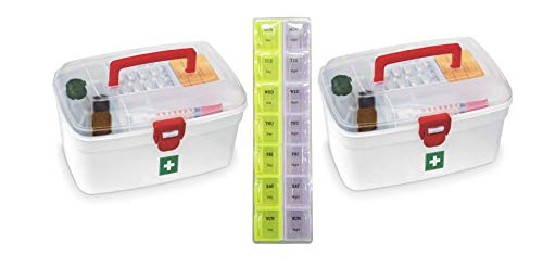 Slings Set of 2 Milton Medical Boxes with 2 Line Pill Box