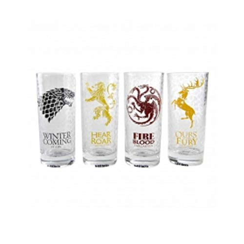 Game of Thrones Bicchieri Vetro, One Size