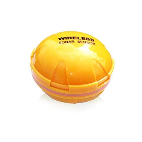 Wireless Fish Finder Detector Sensore Sonar Portatile Sea Lake Ecoscandaglio Fish Yellow Giallo