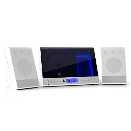 Oneconcept Vertical 90 • mini impianto stereo compatto verticale • USB MP3 • display LCD •...
