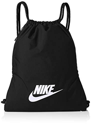 Nike Polyester 0 cms Black/Black/White Drawstring Gym Bag (BA5901-010)