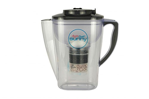 AcalaQuell Sunny 2.3L water filter jug with cartridges bundle (black) (2 months of AcalaQuell One/Swing) (1 cartridge)