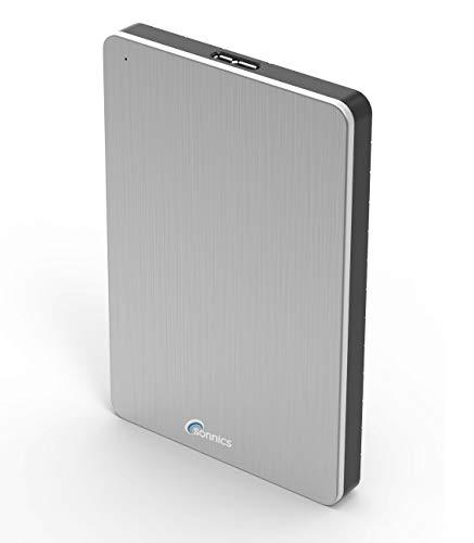Sonnics 500GB argento hard disk esterno portatile USB 3.0 Super velocità di trasferimento per uso...