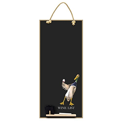 Chalkboards UK Wine List Alto Sottile Lavagna/Lavagna/memo Board con Corda da Cucina, Vassoio e...