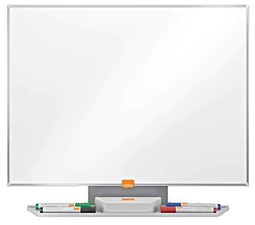 Nobo Prestige Lavagna Bianca Magnetica in Acciaio Smaltato, 600 X 450 mm, Cornice in Alluminio,...