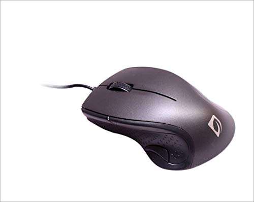 Leafline MS463 3 Button Wired Optical Mouse (Black)