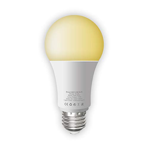 WiFi Smart Light Bulb Tunable Soft White to Daylight (2700K-6500K) 100W Equivalent Dimmable Sunrise...