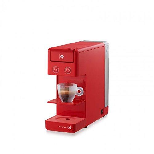 Macchina da caffè a capsule ILLY modello Y3.2 Iperespresso colore Rosso, macchinetta caffè illy iperespresso Y3.2, macchinetta capsule ideale sia per caffè espresso che per caffè all'americana