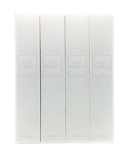 4 x Avon Pur Blanca Eau de Toilette Para Mujer 50ml (4 unidades)