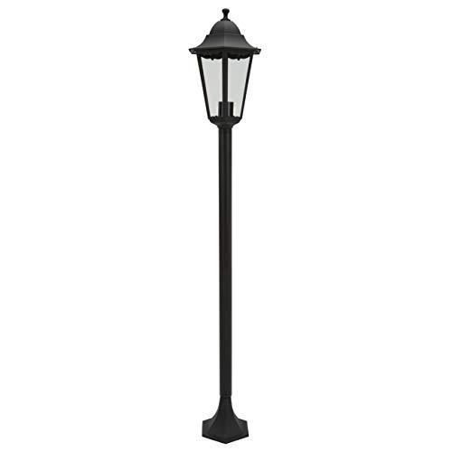 Ranex Classico Lampada da Terra in Alluminio E27, Nero, 125 x 23 x 23 centimeters
