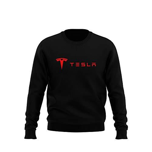 4ac641a5 Tesla Inspired Sweatshirt Sweater (Medium Logo, Small) — EV ...