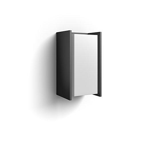 Philips Hue Turaco - Aplique LED color negro antracita, Iluminación inteligente, compatible con Amazon Alexa, Apple HomeKit y Google Assistant