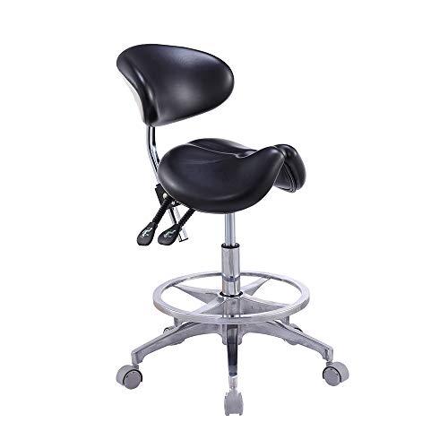HYRL Sedia da Sella in Pelle con Schienale, Poltrona odontoiatrica, Sella ergonomica, utilizzata per L'Ufficio di studi dentistici di Beauty Salon Massage