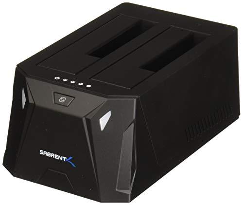 Sabrent Docking Station USB 3.0 a SATA I/II/III con Doppio Slot per HDD/SDD da 2,5'/3,5' con...