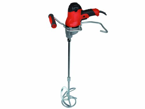 This is a small mixer drill but it offers more than enough power for mixing cement, adhesives, fillers and plaster. It is quite a lightweight model that you will find it a breeze to work with. We like the metal handle for resting the unit. The ability to mix continuously is also a bonus. The only drawback is that this mixer can't handle huge amounts of material. If you are looking for an affordable and portable mixer, the Vitrex VITMIX850 850W 230V Power Mixer is a great pick.