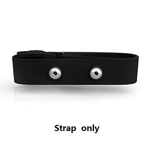Cinturino fascia elastico regolabile per Polar, Garmin, Wahoo con monitoraggio del battito cardiaco Nero Taglia unica