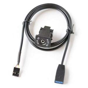 SLB Works Car CD Changer AUX in AUX Cable Audio Adapter for BMW E46 3-Series W4S1