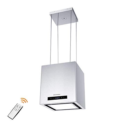 CIARRA,cappa a isola 40cm,temporizzazione/telecomando a infrarossi,Fino a 550 m³/h,Scheda LED...