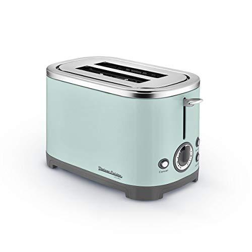 Tostapane a 2 fette 700W con Funzioni di Sgelare e Riscaldamento Vintage Cuisine by CooKing (Mint)