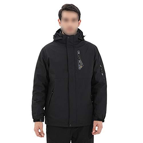Giow Men ' s Interchange 3 in 1 Giacca da Sci, Antivento Warm Parka Cappotto Invernale Impermeabile con Fodera Rimovibile Puffer,4,XXXL