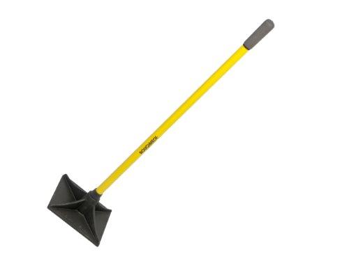 Roughneck 64381 - Pisón de tierra cuadrado (mango de fibra de vidrio, 25,4 x 25,4 cm)