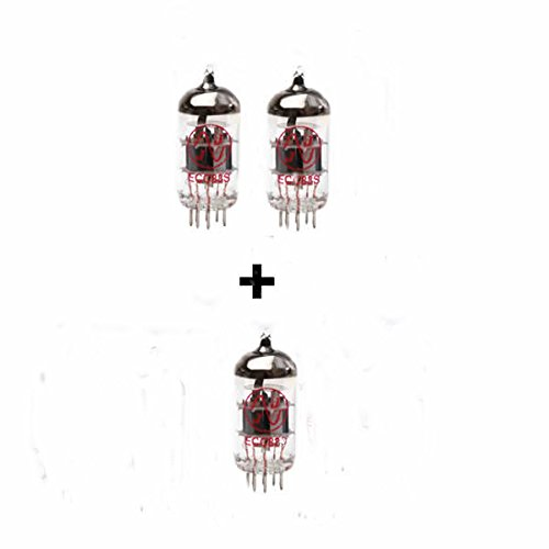2x ECC83 and 1x ECC82 Guitar Amplifier Valve Kit 64