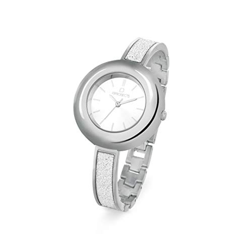 OPS!OBJECTS Glitter Lux, Orologio da polso Donna 36 mm, Colore Argento, OPSPW-354