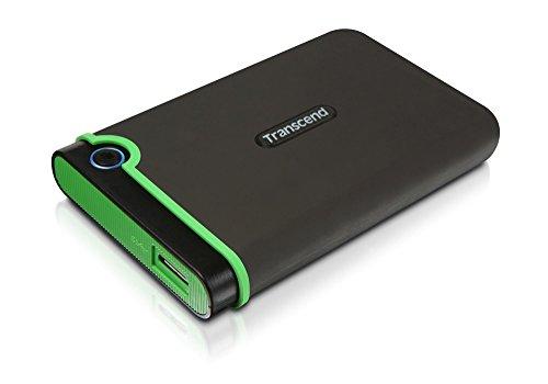Transcend StoreJet 25M3 Hard Disk portatile, 2.5', USB3.1/3.0, 2 TB, Grigio/Verde