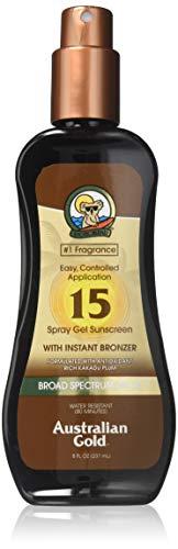 Australian Gold Protezione Solare, SPF 15 con Bronzer - 237 ml