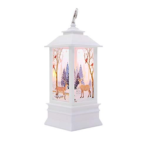 Weihnachtskerze mit LED Tee licht Kerzen für Weihnachtsdekoration Teil Auß Hnliche Beleuchtet Adventsschmuck (A)