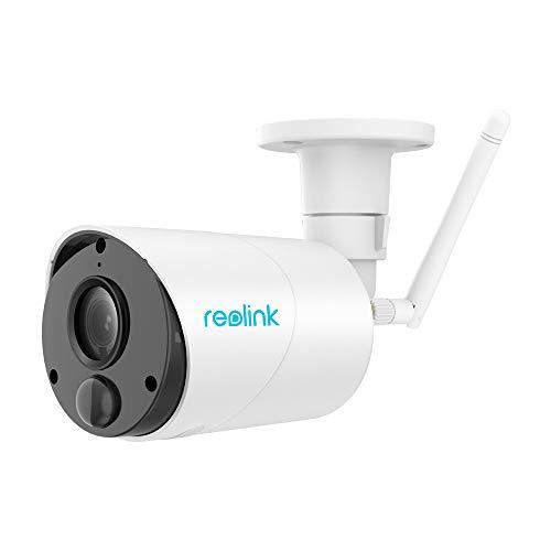 Reolink Argus Eco Telecamera di sicurezza esterna senza fili e ricaricabile con Luce Solare 1080p HD Wireless 2-Way Audio Slot scheda SD integrata (con antenna esterna)