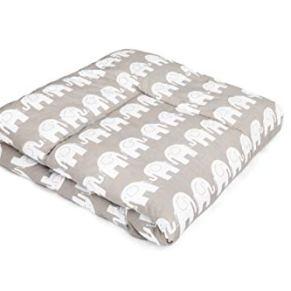 Manta de bebe para arroparlo y para gatear I alfombra de bebe para jugar, Parque bebe 100x100 / 120x120 I OEKO-TEX - SWADDYL (120x120) Elefante