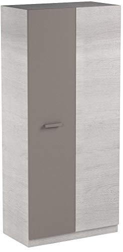 13Casa Mykonos B02 Armadio Anta Battente, Melamina, 90 x 52 x 200 cm