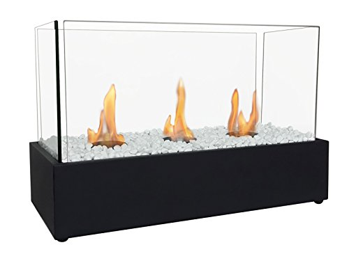 Bioethanol Fireplace with Triple Burners NYMPHA PLUS Purline