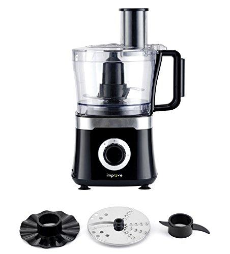 Improve IMPROB001WFP Robot da cucina multichef: grattuggia, impasta, emulsiona, 800W, caraffa 1,5l -...