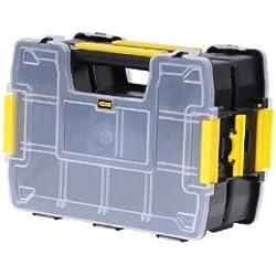 Stanley Sortmaster Doppelorganizer Werkzeugbox leer STST1-71197 / Stapelbarer Werkzeugkasten mit entnehmbare Einsätzen & kombinierbar mit bis zu zwei weiteren Organizern
