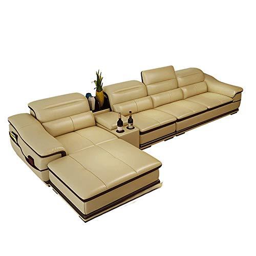 Divano in PelleSuite reclinabile in Pelle Divano a Forma di L con Poltrona Lounge Extra Larga