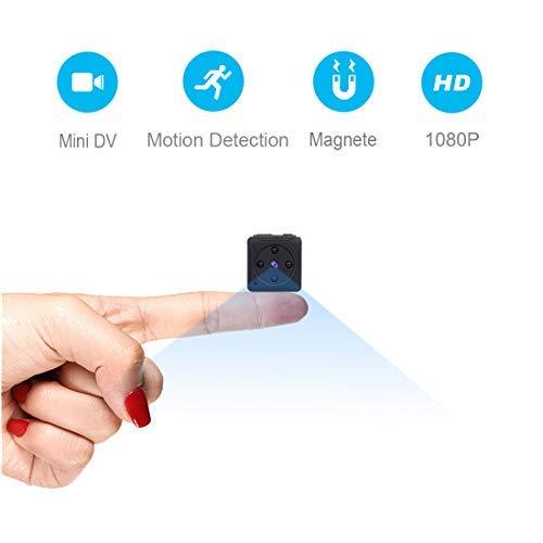 Mini Telecamera Spia Nascosta,MHDYT Full HD 1080P Portatile Micro Spy Cam Sorveglianza con Visione...