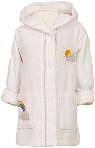 Smithy Accappatoio per bambini per ragazze e ragazzi, in 100% cotone, con arcobaleno e nuvole bianco...