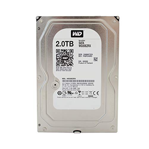 Western Digital Caviar Green Desktop 3,5' 64MB Cache SATA-600 Festplatte, HDD - recertified,...