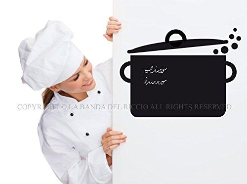 Lavagna adesiva Stickers murali lavagna per cucina La Pentola