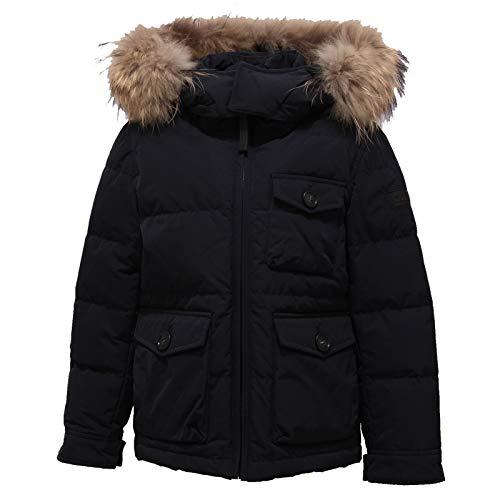 WOOLRICH 9788Z Piumino Bimbo Boy Pocono Blue Real Fur Jacket [6 Years]